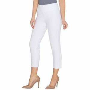 Women with control crop pants alabaster